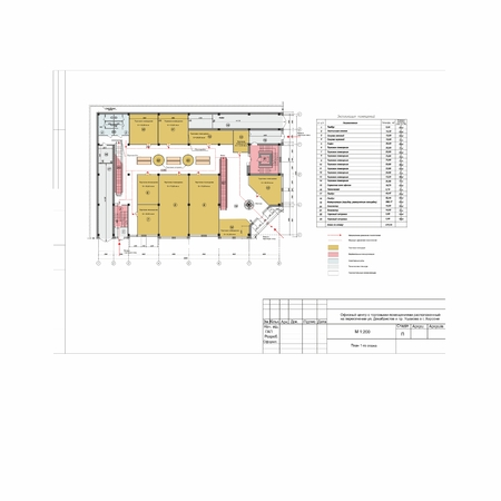 Project plan of the shopping center in the city