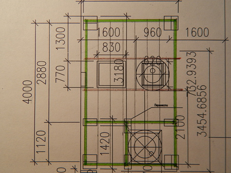 Architectural design of buildings and structures plan Stok Fotoğraf