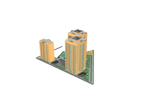Architecture project 3d model vizualization building