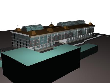 Architecture project 3d model vizualization building