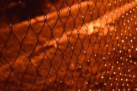 Night netting lighting a lantern
