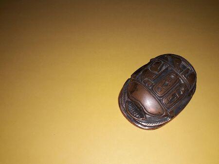 Egyptian scarab beetle symbol of the wealth Reklamní fotografie