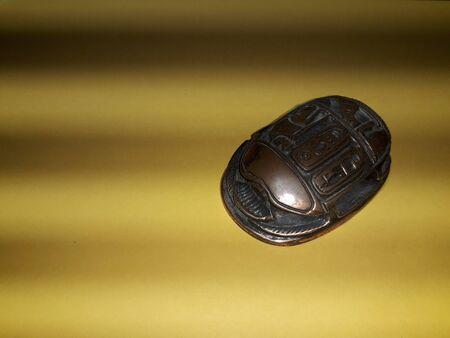Ägyptischer Skarabäus-Käfer-Symbol des Reichtums