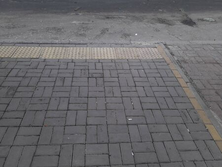 Paving street in the park with anti-skid the elements