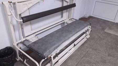 Medical seat bed in a surgery the hospital