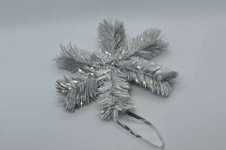 New Year's retro Christmas tree decorations on a white the background