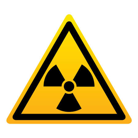 Radiation Hazard Sign. Symbol of radioactive threat alert. Imagens - 116594940