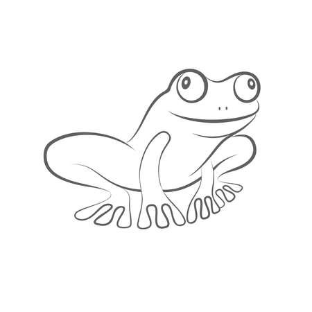 Icon frog. Flat symbol frog. Isolated sign frog on white background. Illustration