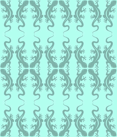 Abstract seamless pattern of a lizard. Decorative pattern of lizards. Vector illustration