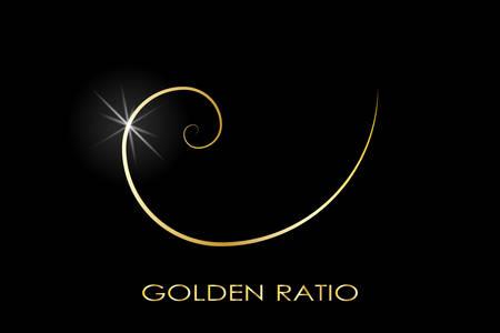 Gouden ratio. Fibonacci-getal. Cirkels in gouden verhouding. Geometrische vormen. Logo. Abstracte vectorachtergrond. Vector Logo
