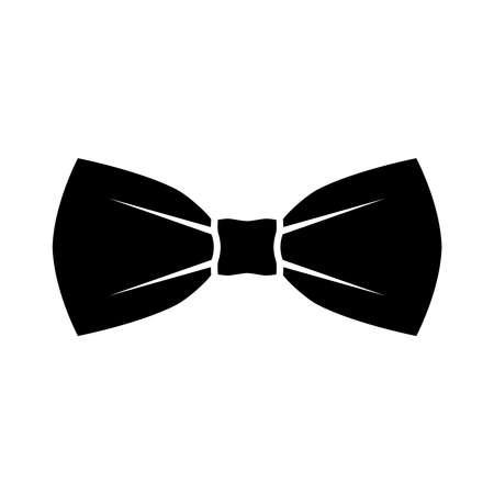 Ikona czarna muszka. Na białym tle znak muszka na białym tle w płaskiej konstrukcji. Ilustracja wektorowa