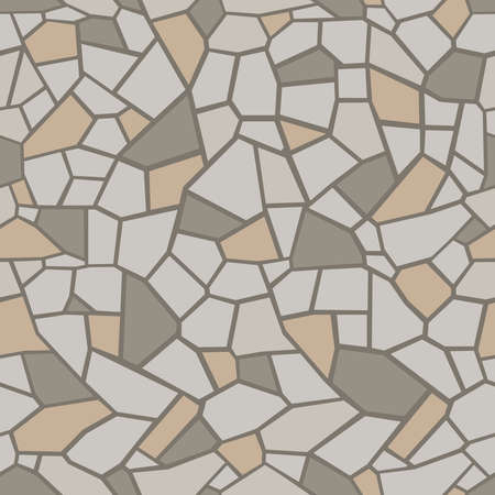 Stein nahtlose Textur. Stein-Overlay-Textur. Mosaik-Maßwerk-Textur. Design-Hintergrund. Vektor-Illustration.