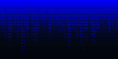 Binary code background. Streaming binary code background. Digital technology wallpaper. Cyber data, decryption and encryption. Hacker background concept. Vector illustration