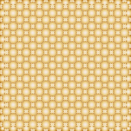 Islamic star octagonal shape pattern. Seamless abstract background. Gold simple ornament. Vector backdrop Illustration