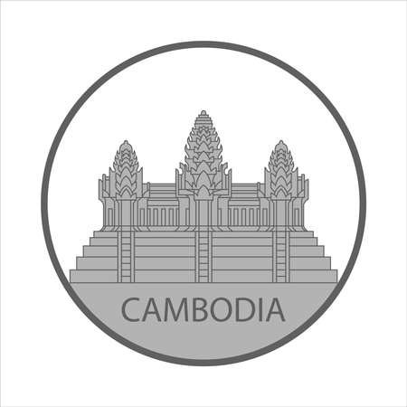 Symbol or sign Cambodia isolated on white background. Vector illustration 向量圖像