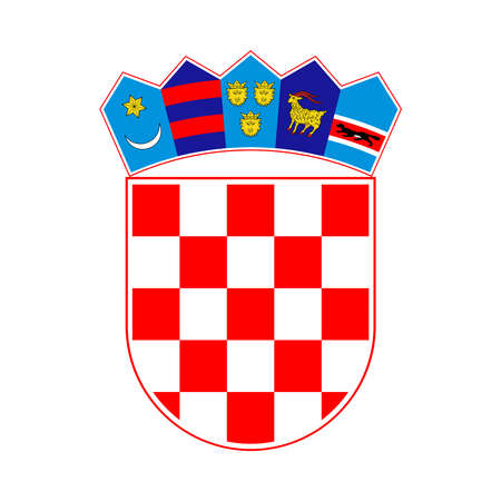 Coat of arms Croatia. Isolated symbol on white background. Sign vector illustration
