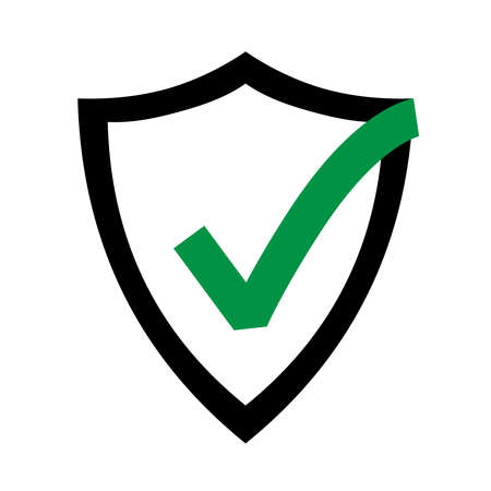 Secure internet icon. Protective shield sign digital security. Symbol security protection web. Vector illustration.
