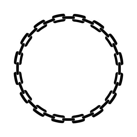 Circle chain. Frame chain. Abstract vector illustration Illustration