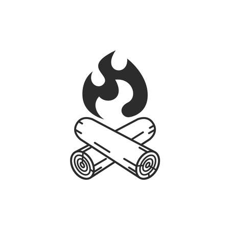 Campfire icon isolated on white background. Vector illustration.