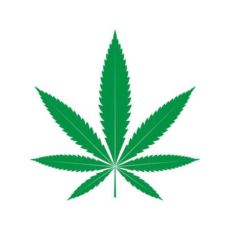 Cannabis blad pictogram. Geïsoleerd groen teken op witte achtergrond. vector illustratie Vector Illustratie