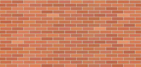 Muro di mattoni marrone di struttura. Muro di fondo senza soluzione di continuità. Sfondo di disegno. Illustrazione vettoriale.