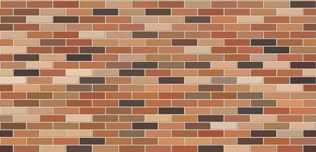 Texturfarbe Backsteinmauer. Nahtlose Hintergrundwand. Design-Hintergrund. Vektor-Illustration.