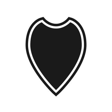 Shield icon. Protection symbol. Isolated sign black shield on white background. Vector illustration