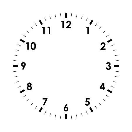 Icône de visage d'horloge. Montre symbole isolé sur fond blanc. Modèle de conception agrandi. Illustration vectorielle Vecteurs