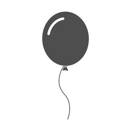 Balloon icon. Isolated sign balloon on white background. Vector illustration