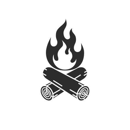 Campfire graphic icon. Campfire sign isolated on white background. Vector illustration Vektoros illusztráció