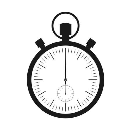 Stopwatch graphic icon. Stopwatch symbol isolated on white  background. Design template closeup. Vector illustration