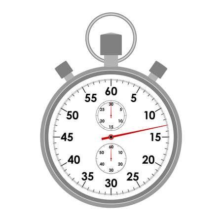 Graficzna ikona stopera. Symbol stopera na białym tle. Zbliżenie szablonu projektu. Ilustracja wektorowa
