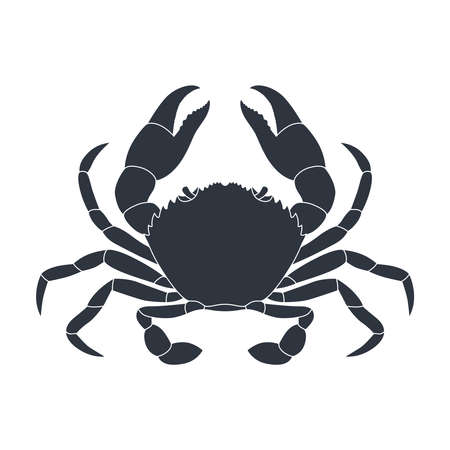 Crab graphic icon. Sea ?rab black sign isolated on white background. Vector illustration