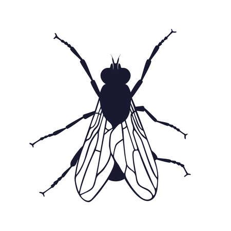 Ikona muchy. Mucha symbol graficzny na białym tle. Ilustracja wektorowa