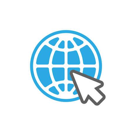 Web icon. Website pictogram. Internet symbol isolated on white background. Flat style. Vector illustration Illustration