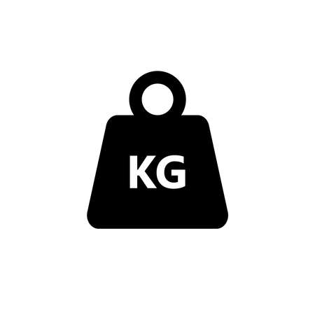 Kilogram weight graphic icon. KG weight sign isolated on white background. Vector illustration