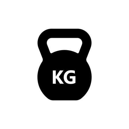 Weight graphic icon. Weight KG sign isolated on white background. Kilogram symbol. Vector illustration