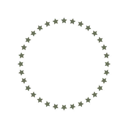 Frame from stars. Stars in a circle graphic background. Frame isolated on white background.