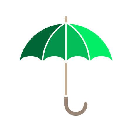 Regenschirm-Grafiksymbol. Öffnen Sie das Regenschirmzeichen lokalisiert auf weißem Hintergrund.