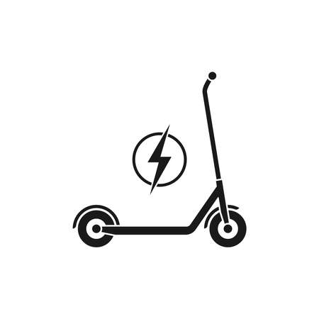 Electric scooter graphic icon. Transportation electric scooter sign isolated on white background. Vector illustration