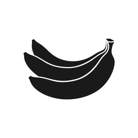 Bananas bunch graphic icon. Bananas fruit sign isolated on white background. Vector illustration Vettoriali
