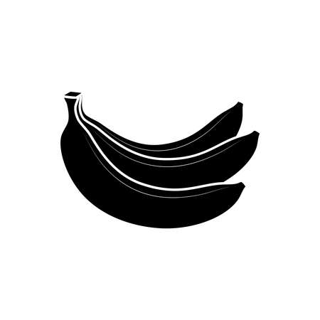 Bananas bunch graphic icon. Bananas fruit sign isolated on white background. Vector illustration Illustration