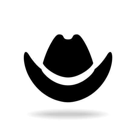 Cowboy hat  graphic icon. Black hat sign isolated on white background. Vector illustration