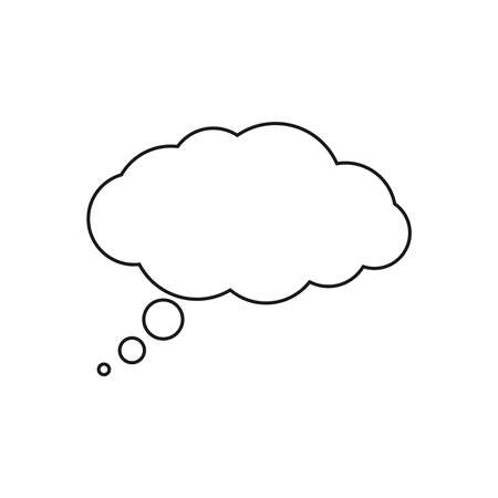 Speech bubble graphic icon. Blank balloon for thoughts sign isolated on white background. Empty dialog cloud. Cloud for text. Vector illustration 일러스트