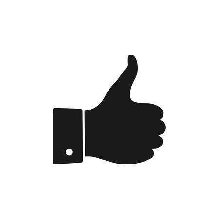 Hand with thumb up graphic icon. Like or okay sign isolated on white background. Vector illustration Banque d'images - 134337255