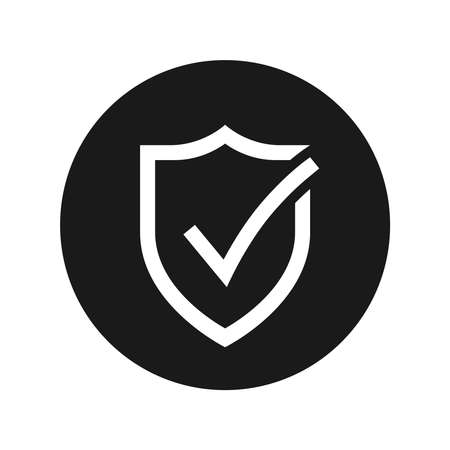 Secure internet icon. Protective shield sign digital security. Symbol protection web. Checking symbol. Vector illustration Banque d'images - 134337269