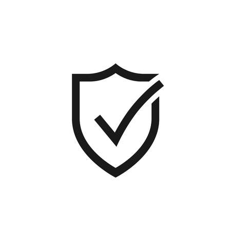 Secure internet icon. Protective shield sign digital security. Symbol protection web. Checking symbol. Vector illustration Banque d'images - 134337270