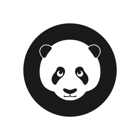 Panda graphic icon. Head panda in the circle sign isolated on white background. Bamboo bear symbol. Vector Illustration Banque d'images - 136070863