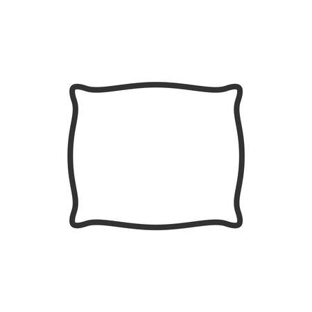 Pillow graphic icon. Cushion sign isolated on white background. Vector illustration Banque d'images - 136071009