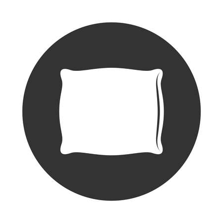 Pillow graphic icon. Cushion sign in the circle isolated on white background. Vector illustration Banque d'images - 137857986